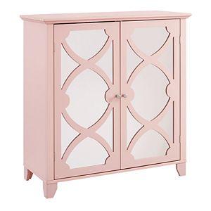 Linon Mirrored 2-Door Storage Cabinet