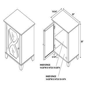 Linon Mirrored Storage Cabinet