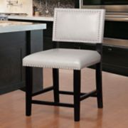 Linon Blake Faux-Leather Counter Stool