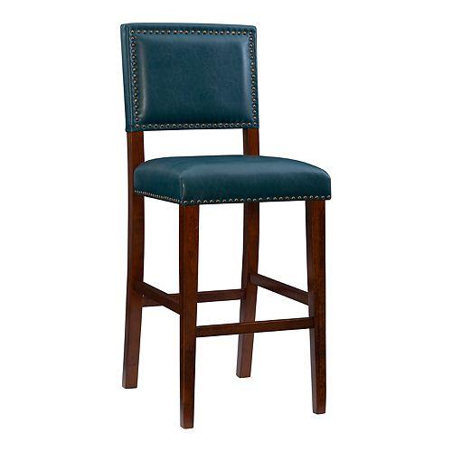 Peachy Linon Blake Faux Leather Bar Stool Short Links Chair Design For Home Short Linksinfo