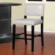 Linon Blake Faux-Leather Bar Stool