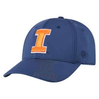 Adult Top of the World Illinois Fighting Illini Pitted Memory-Fit Cap