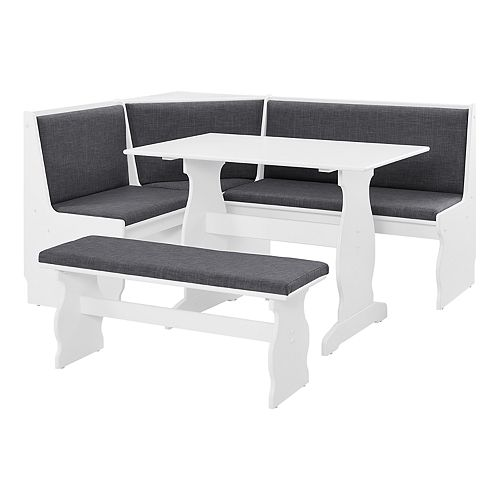 Wondrous Linon Sasha Nook Dining Table 3 Piece Set Gmtry Best Dining Table And Chair Ideas Images Gmtryco