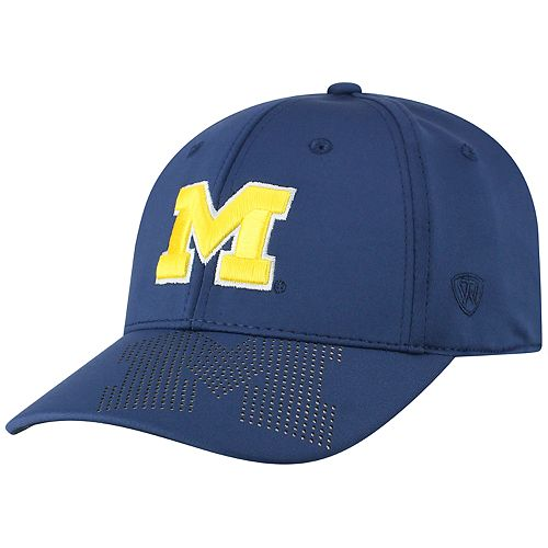 Adult Top of the World Michigan Wolverines Pitted Memory-Fit Cap