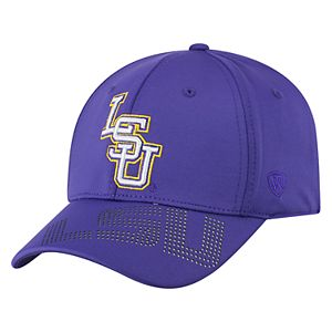 Adult Top of the World LSU Tigers Pitted Memory-Fit Cap