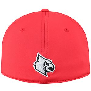 Adult Top of the World Louisville Cardinals Pitted Memory-Fit Cap