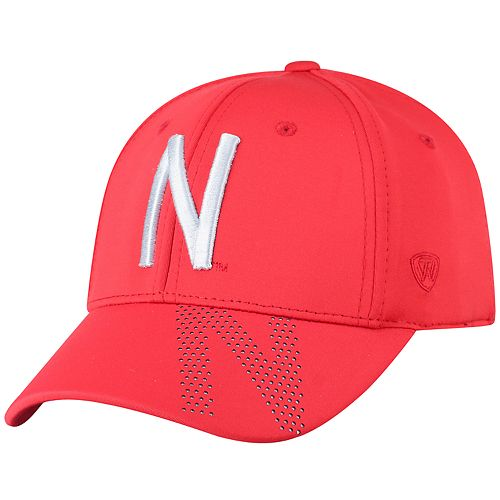 Adult Top of the World Nebraska Cornhuskers Pitted Memory-Fit Cap
