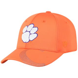 Adult Top of the World Clemson Tigers Pitted Memory-Fit Cap