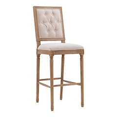 Linon Avalon Tufted Bar Stool