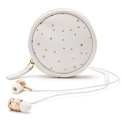 LC Lauren Conrad Earbuds & Zip-Around Travel Case