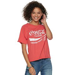 Juniors' Coca-Cola 'Catch The Wave' Crop Tee