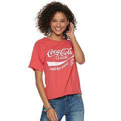 Juniors' Coca-Cola 'Catch The Wave' Crop Tee