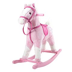 Happy Trails Pink Rocking Horse Ride-On