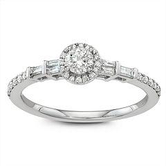 7c1e0bb84ce415 Simply Vera Vera Wang 14k White Gold 1/2 Carat T.W. Diamond Halo Engagement  Ring. sale