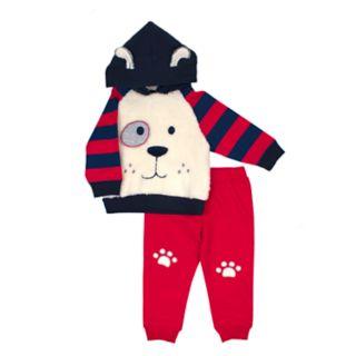 Baby Boy Little Rebels Puppy Dog Hoodie & Pants Set