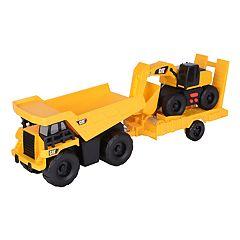 Caterpillar Light & Sound Dump Truck with Trailer & Excavator