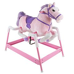 Happy Trails Pink Spring Rocking Horse Ride-On