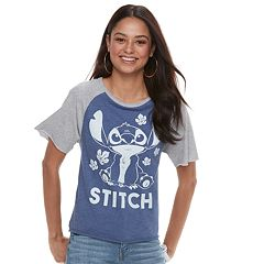 Disney's Lilo & Stitch Juniors' Raglan Crop Tee
