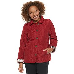 Petite Croft & Barrow® Button Front Quilted Jacket