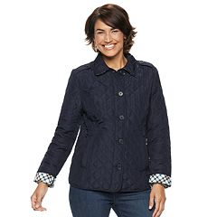 Petite Croft & Barrow® Quilted Button-Front Jacket
