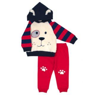 Toddler Boy Little Rebels Puppy Dog Pullover Hoodie & Jogger Pants Set