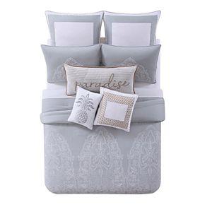 Tropical Plantation Embroidered Comforter Set