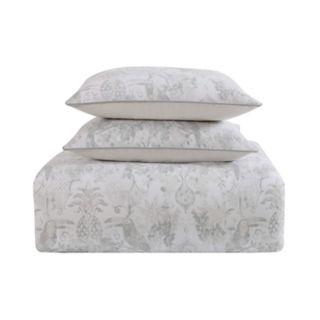 Tropical Plantation Toile Comforter Set