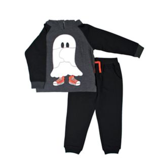 Toddler Boy Little Rebels Ghost Sneakers Pullover Hoodie & Jogger Pants Set