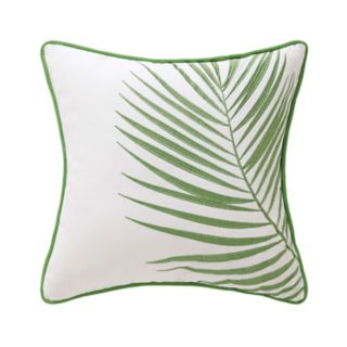 Coco Paradise Embroidered Palm Throw Pillow