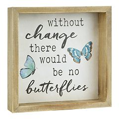 Belle Maison 'Butterflies' Box Sign Art