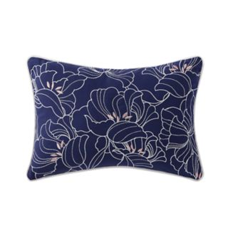 Indienne Paisley Embroidered Floral Oblong Throw Pillow