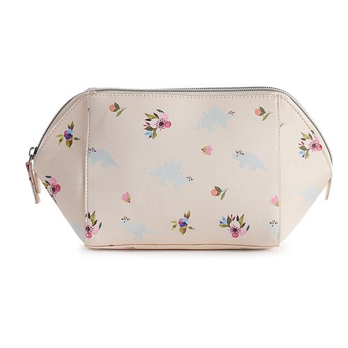 LC Lauren Conrad Dinosaur & Floral Cosmetic Bag