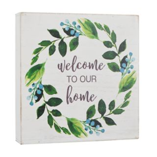 "Belle Maison ""Welcome"" Box Sign Art"