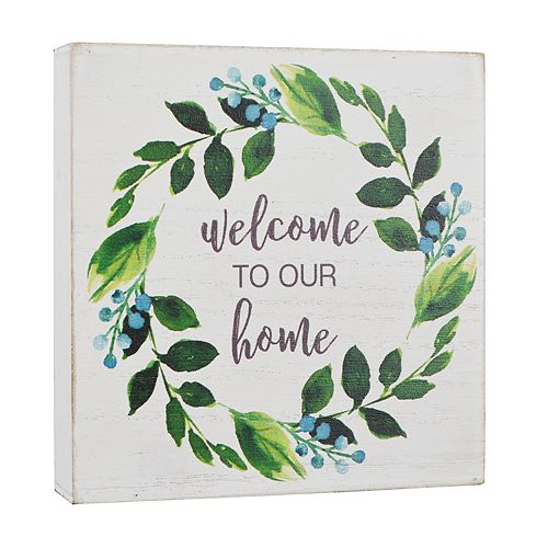 "Belle Maison ""Welcome"" Box Sign Art"