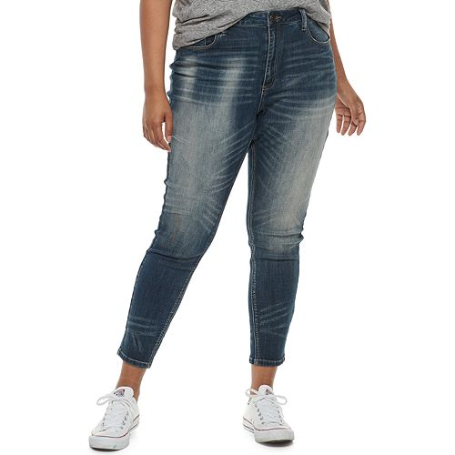 Juniors' Plus Size Mudd® Mid-Rise Ankle Jeggings