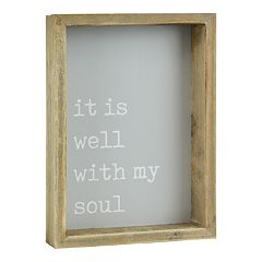 Belle Maison 'Well With My Soul' Box Sign Art