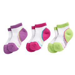 Baby / Toddler Girl Stride Rite 3-pack Aubree Made2Play Quarter Socks