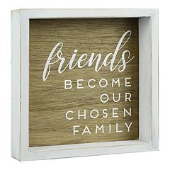 Belle Maison 'Friends' Rustic Box Sign Art