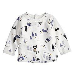 Baby Girl Jumping Beans® French Terry Rolled Cuff Top