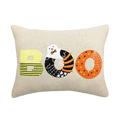 Celebrate Halloween Together ''Boo & Eek'' Reversible Oblong Throw Pillow