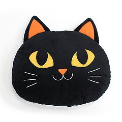 Celebrate Halloween Together Cat Shaped Plush Throw Pillow