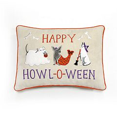 Celebrate Halloween Together Dog Costume Mini Oblong Throw Pillow