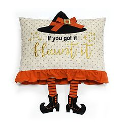 Celebrate Halloween Together Witch ''Flaunt It'' Oblong Throw Pillow
