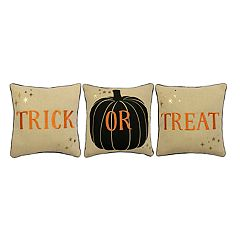 Celebrate Halloween Together ''Trick or Treat'' 3-piece Mini Throw Pillow Set