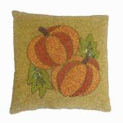 Celebrate Fall Together Beaded Pumpkin Throw Pillow
