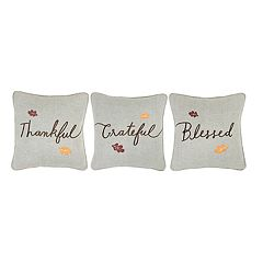 Celebrate Fall Together Thankful Throw Pillow 3-pack