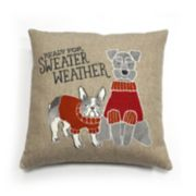 Celebrate Fall Together Dog Throw Pillow
