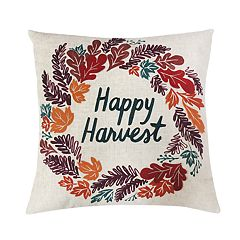Celebrate Fall Together Happy Harvest Throw Pillow