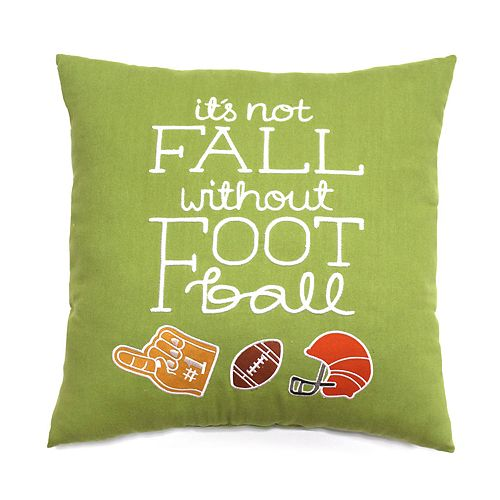 Celebrate Fall Together Football Throw Pillow