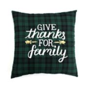 Celebrate Fall Together Family Throw Pillow